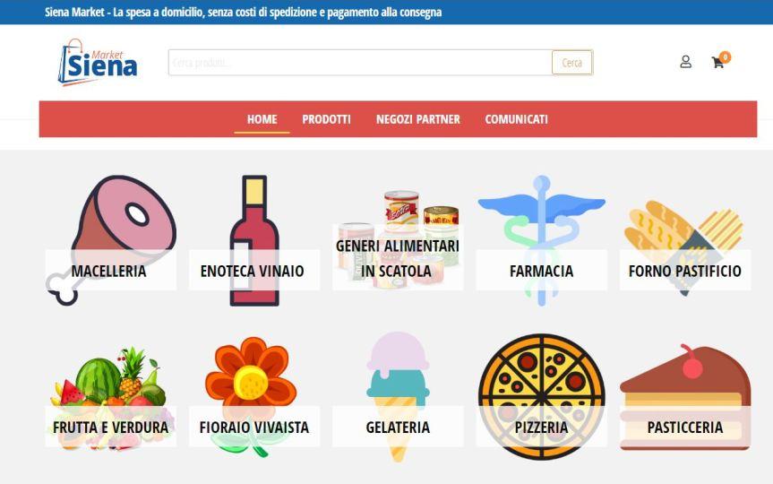 """Siena: """"Sienamarket"""", i prodotti del territorio direttamente a casa con consegnagratuita"""