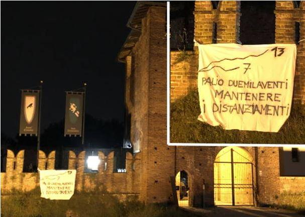 Palio di Legnano:  Sant'Erasmo e San Domenico vicini ma…distanziati