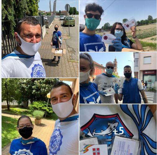 Palio di Asti, Comitato Palio Borgo Tanaro-Trincere-Torrazzo: Ieri 09/05 Consegnate le mascherine della RegionePiemonte