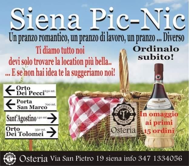 Massi lo Sà, Sponsor, Tartineria Toscana: Siena Pic –Nic