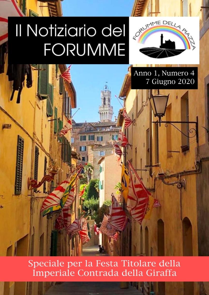 Siena, Forumme della Piazza: Oggi 07/06 uscito il quarto numero del Notiziario delForumme