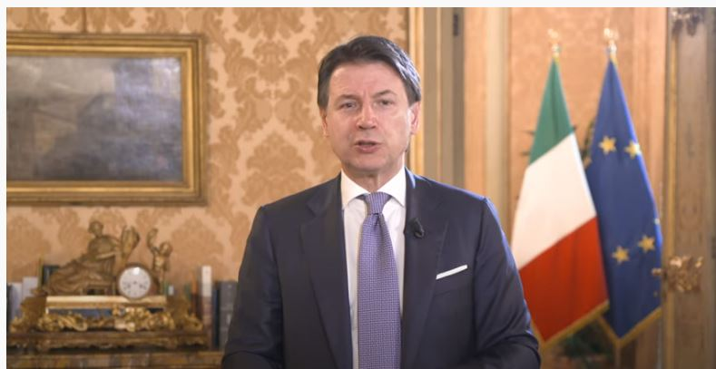 "Italia: Il Presidente Conte interviene al digital talk ""Italia Riparte"""