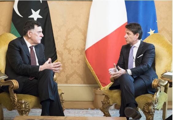 Italia: Libia, il Presidente Conte incontra Fayez alSerraj