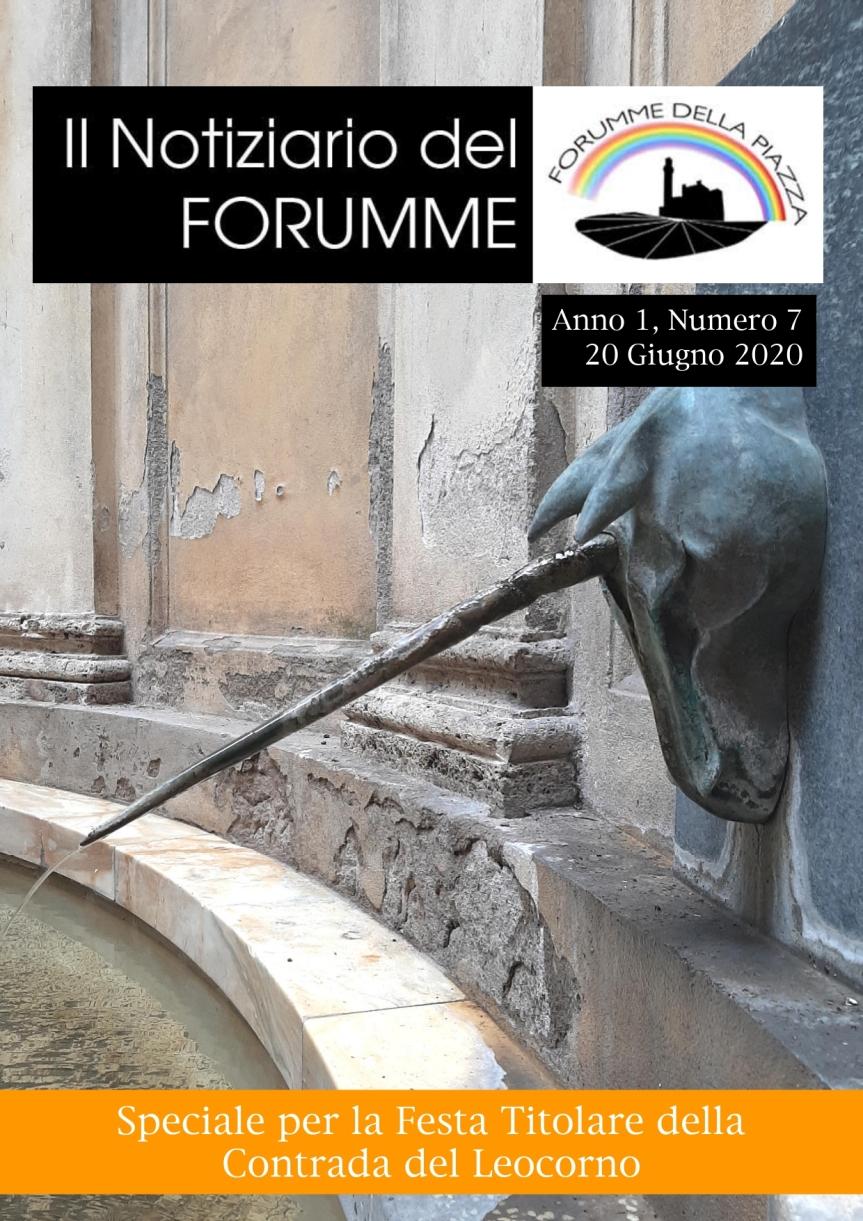 """Siena, Forumme della Piazza: Uscito il settimo numero del """"notiziario del Forumme"""" dedicato alla Contrada delLeocorno"""
