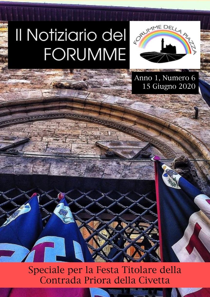 """Siena, Forumme della Piazza: Oggi 15/06 uscito il sesto numero del """"Notiziario del Forumme"""" dedicato allaCivetta"""