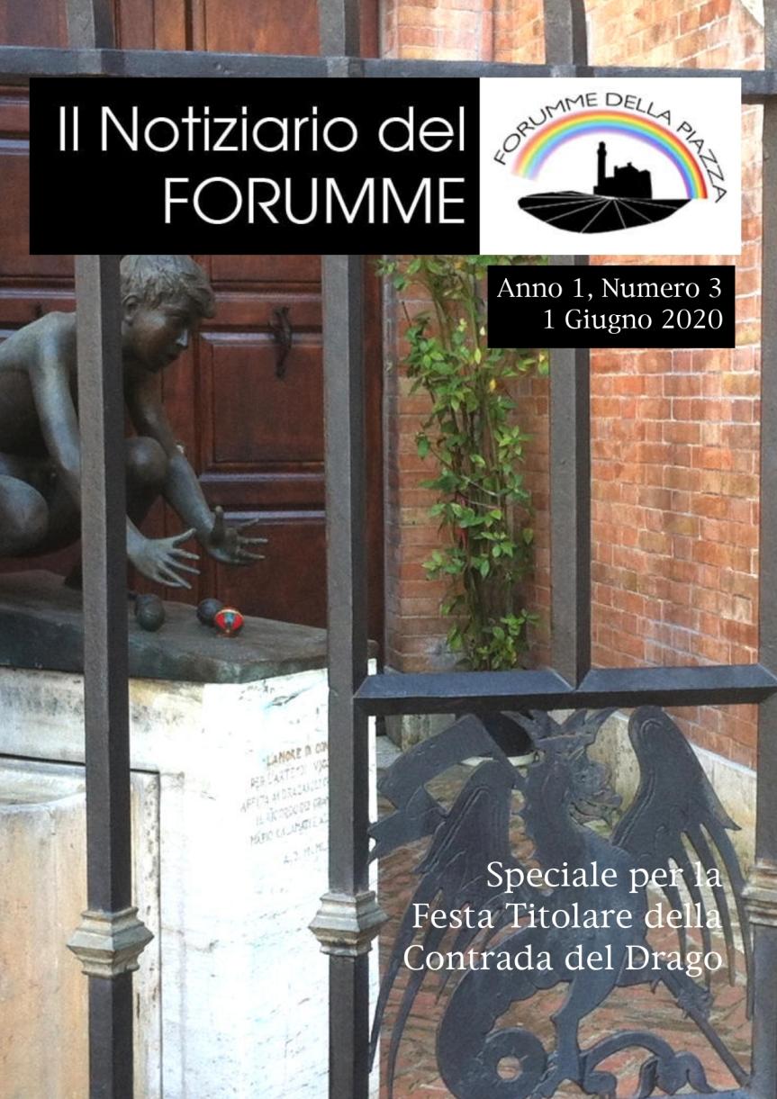 """Palio di Siena, Forumme della Piazza: Oggi 01/06 terza uscita """"Notiziario delForumme"""""""