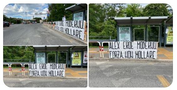 Siena: Oggi 22/06 alcuni cittadini senesi hanno esposto uno striscione di incoraggamento aZanardi