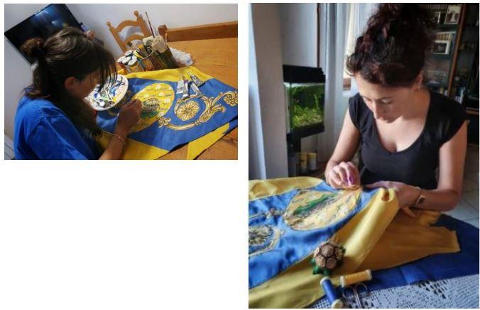 Siena, Sorelle artiste con la Tartuca nel cuore: Il fazzoletto di Elisa eMichela