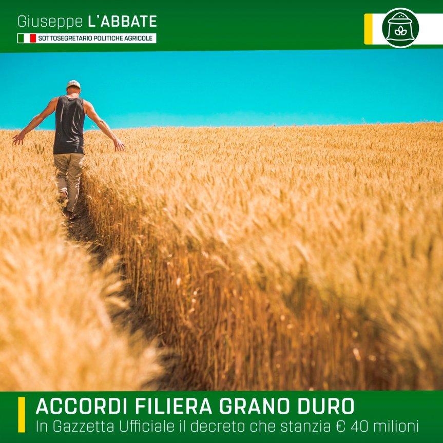 Italia: Accordo Filiera GranoDuro