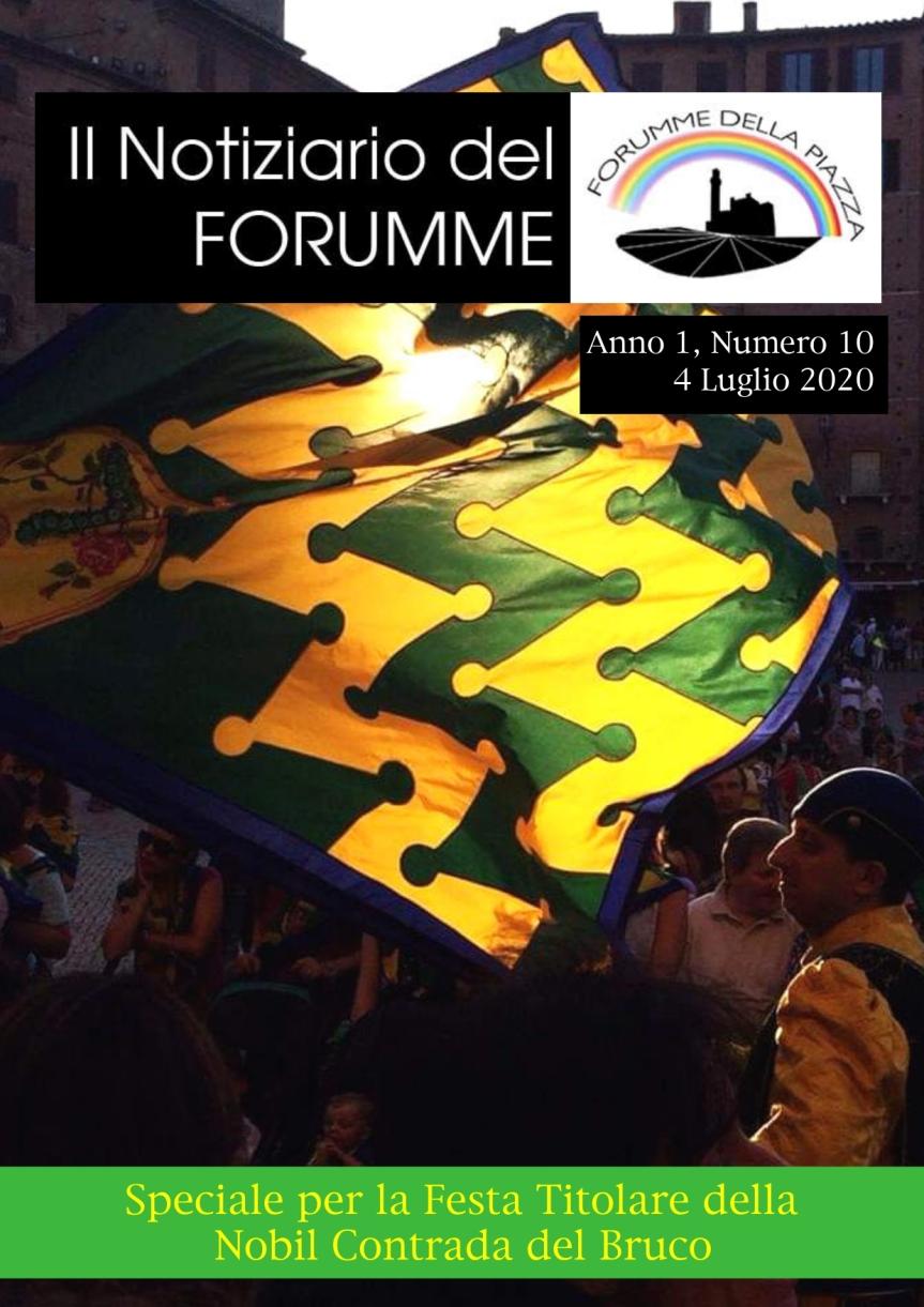 """Siena, Forumme della Piazza: Oggi 04/07 è uscito il decimo numero del """"Notiziario del Forumme"""" dedicato alla Contrada delBruco"""