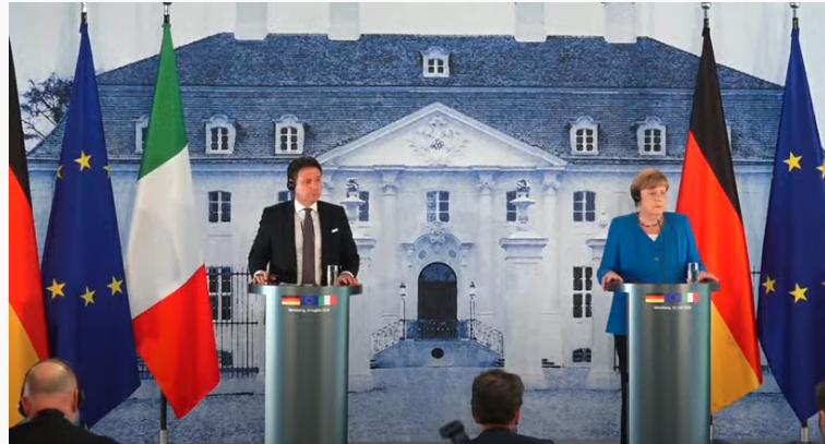 Italia: Il Presidente Conte incontra la CancellieraMerkel