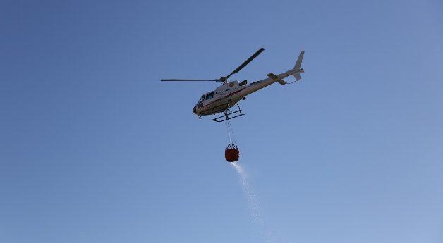 Provincia di Siena, Incendio boschivo a Casole d'Elsa:   I Vigili del Fuoco intervengono con l'elicottero