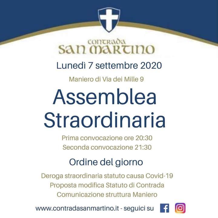 Palio di Legnano, Contrada San Martino: 07/09 AssembleaStraordinaria