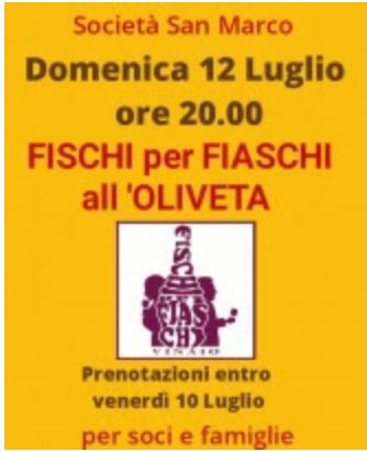"""Siena, Società San Marco: 12/07 """"Fischi per Fiaschi all'Oliveta"""""""