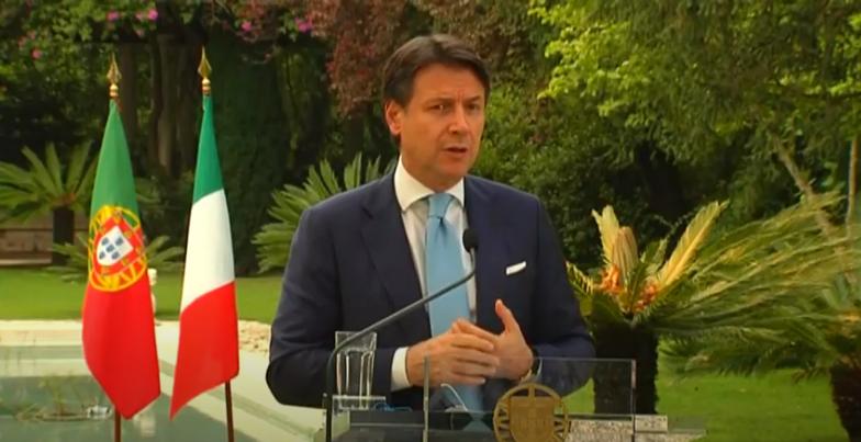 Italia: Lisbona, conferenza stampa Conte –Costa
