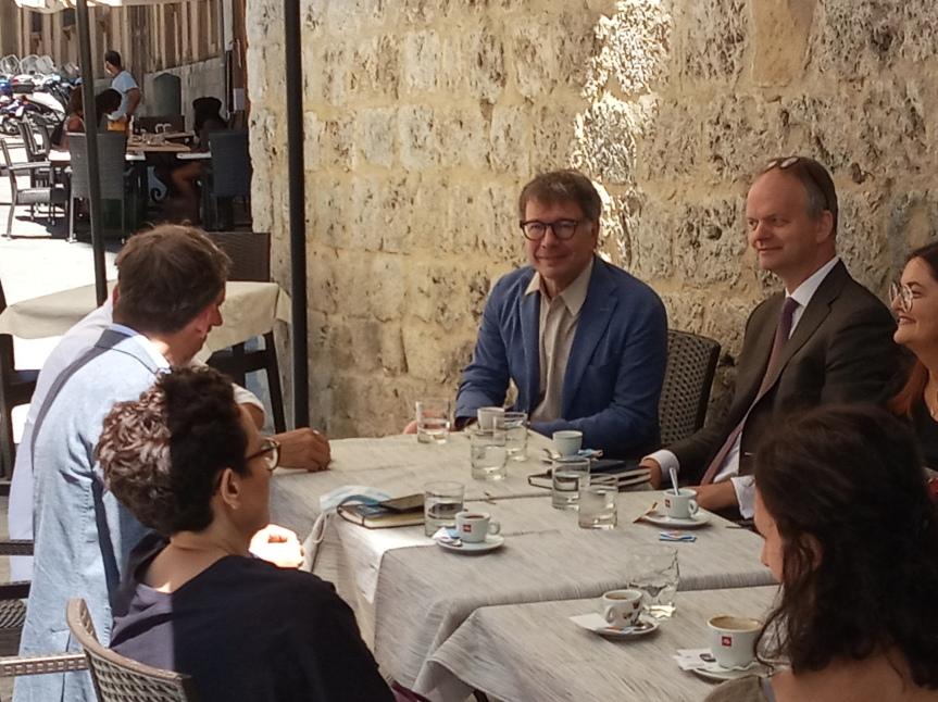 Siena: Il Sindaco De Mossi insieme ad Eike Schmidt direttore degliUffizzii