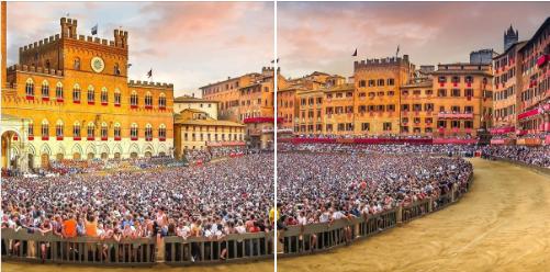 """Palio di Siena: Il """"Cencio"""" e le pennellate di Guttuso eBotero"""
