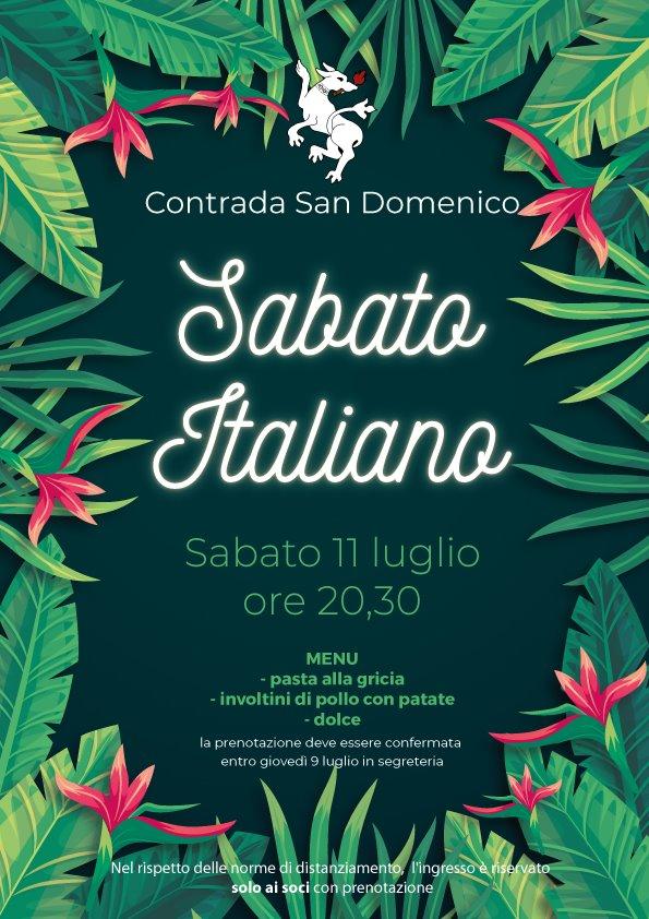 """Palio di Legnano, Contrada an Domenico: 11/07 """"SabatoItaliano"""""""