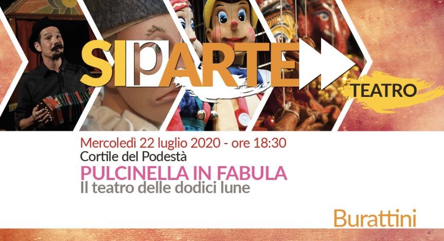 """Siena: Oggi 22/07 nel Cortide del Podestà spettacolo dei burattini """"Pulcinella inFabula"""""""