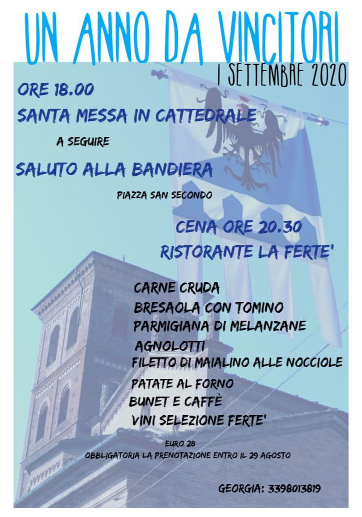 """Palio di Asti, Rione Cattedrale: 01/09 """"Un Anno da Vincitori"""""""