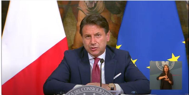 Italia: Gli impegni del Presidente Conte di sabato 5 e domenica 6settembre