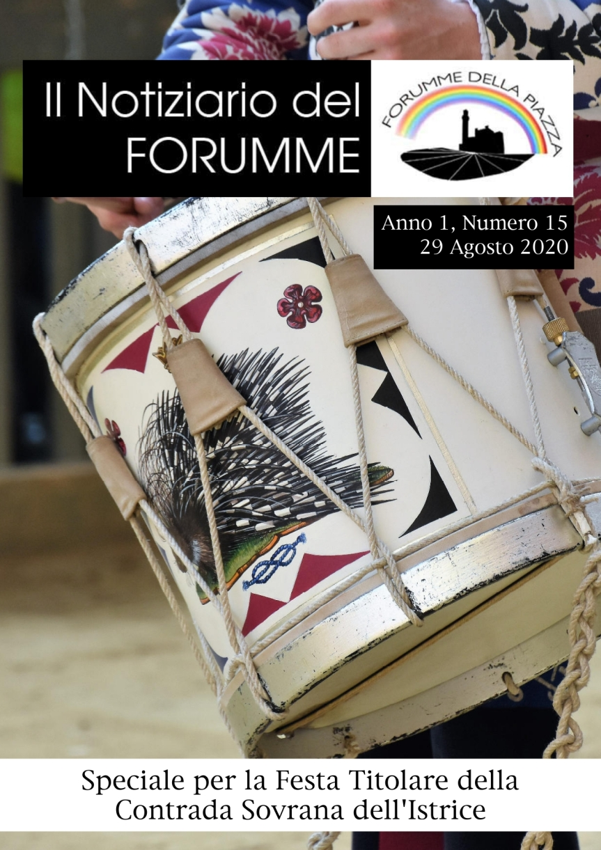 Siena, Forumme della Piazza: Oggi 29/08 17^ uscita del Notiziario del Forumme dedicato alla Contrada dell'Istrice