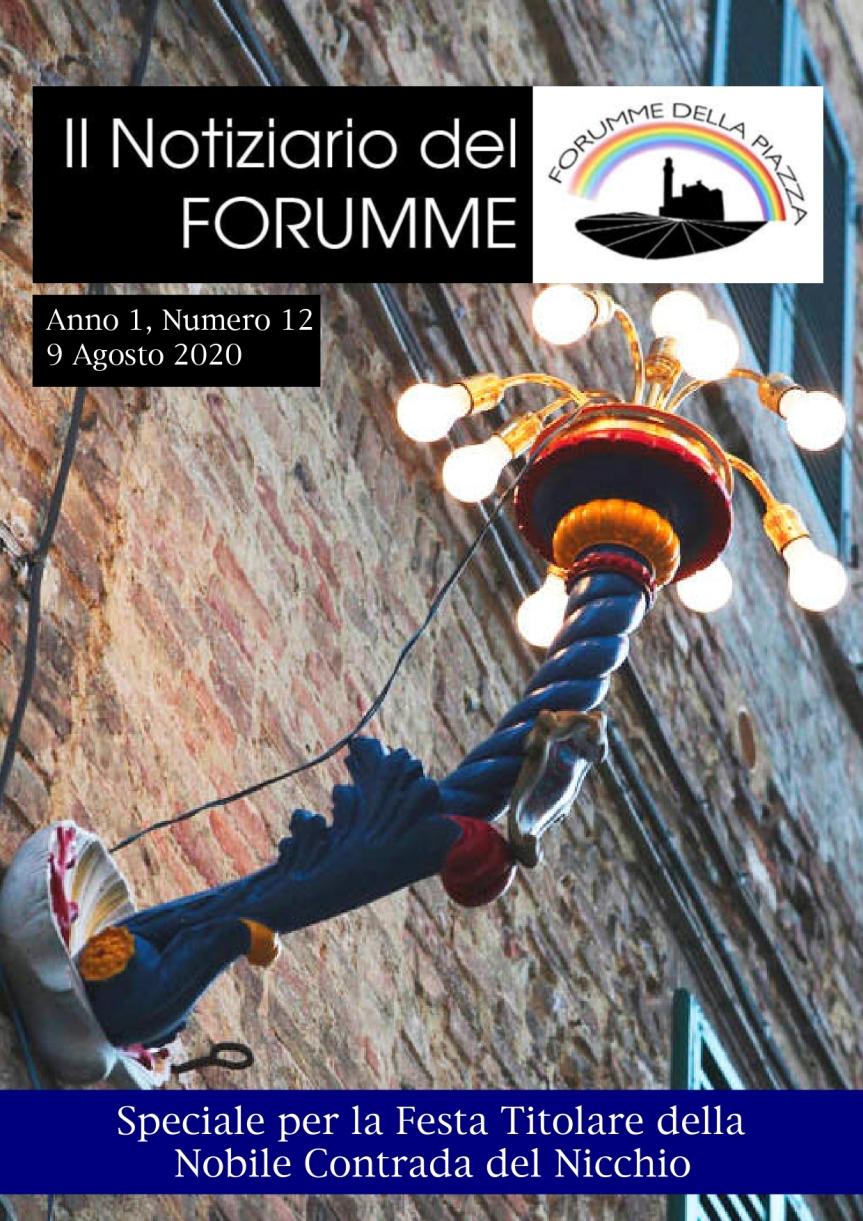 Siena, Forumme della Piazza: Oggi 09/08 è uscito il didicesimo numewro del Notiziario del Forumme dedicato alNicchio