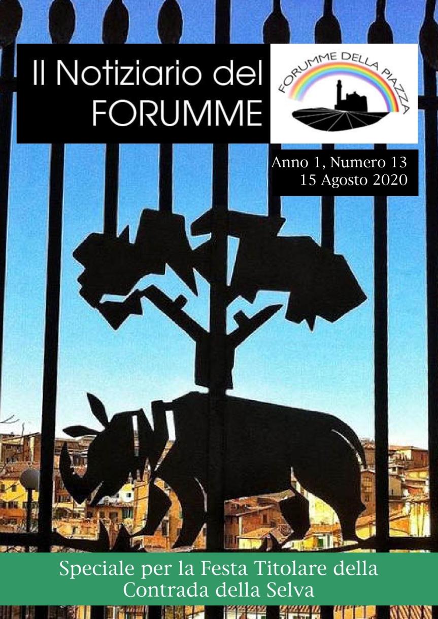 """Siena: Oggi 15/08 E' uscito il tredicesimo numero del """"Notiziario del Forumme"""" dedicato alla Contrada dellaSelva"""