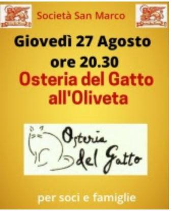 Siena, Società San Marco: 27/08 Osteria del Gatto all'Oliveta