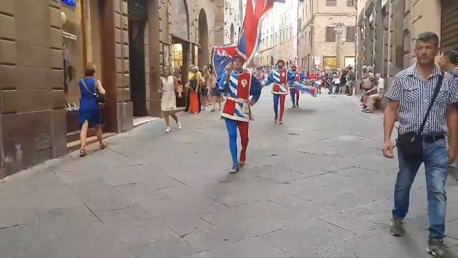 Siena, Contrada della Pantera: Il rientro dal giro di visita alle Consorelle2019