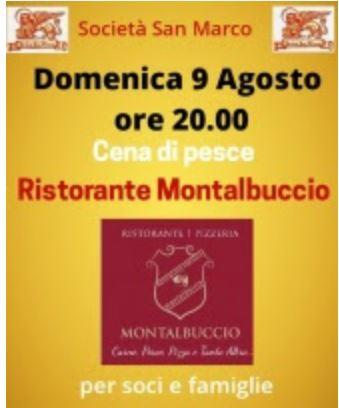 Siena, Società San Marco: 09/08 Ristorante Montalbuccio all'Oliveta