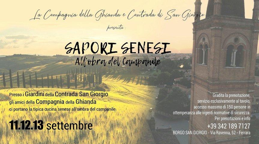 Palio di Ferrara, Contrada San Giorgio: 11-12-13/09 SaporiSenesi
