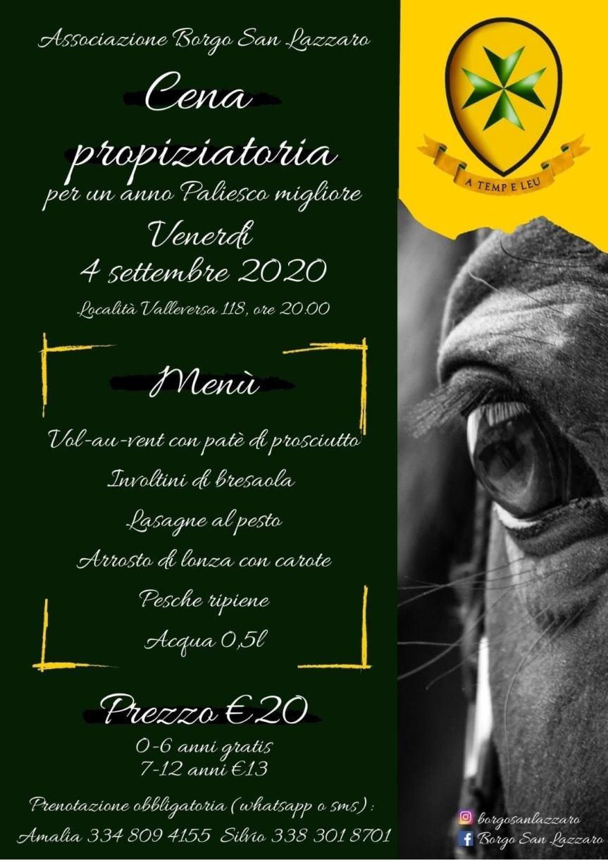 Palio di Asti, Comitato Palio San Lazzaro: 04/09 Cena Propiziatoria per un Anno Paliescomigliore