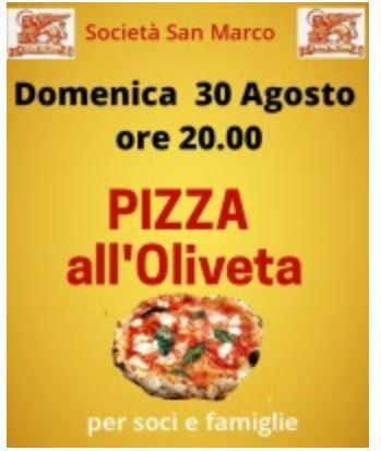 Siena, Società San Marco: 30/08 Pizza all'Oliveta