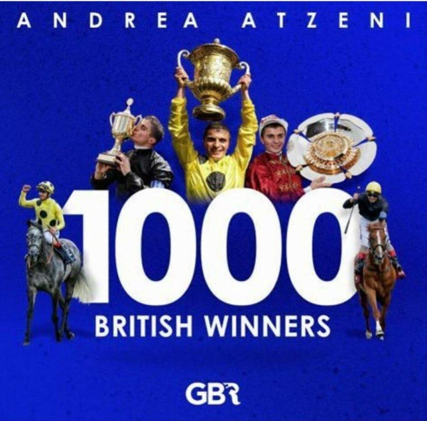 Ippic: Il fantino sardo Andrea Atzeni ha ottenuto le 1000 vittorie incarriera