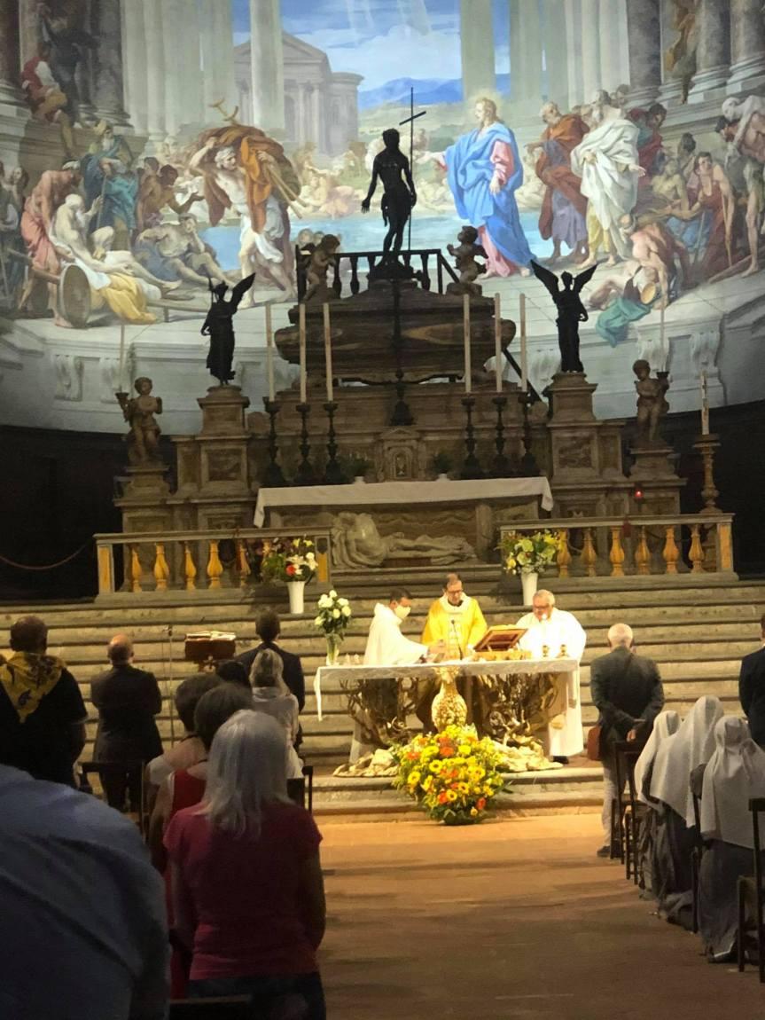 Siena, Contrada dell'Aquila: Oggi 11/09 alla Santissima Annunziata si è svolta la Messa del SolenneMattutino