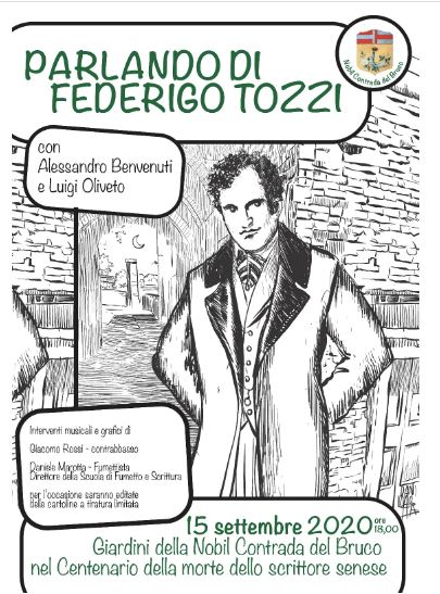 Siena: Il Bruco rende omaggio al grande FederigoTozzi