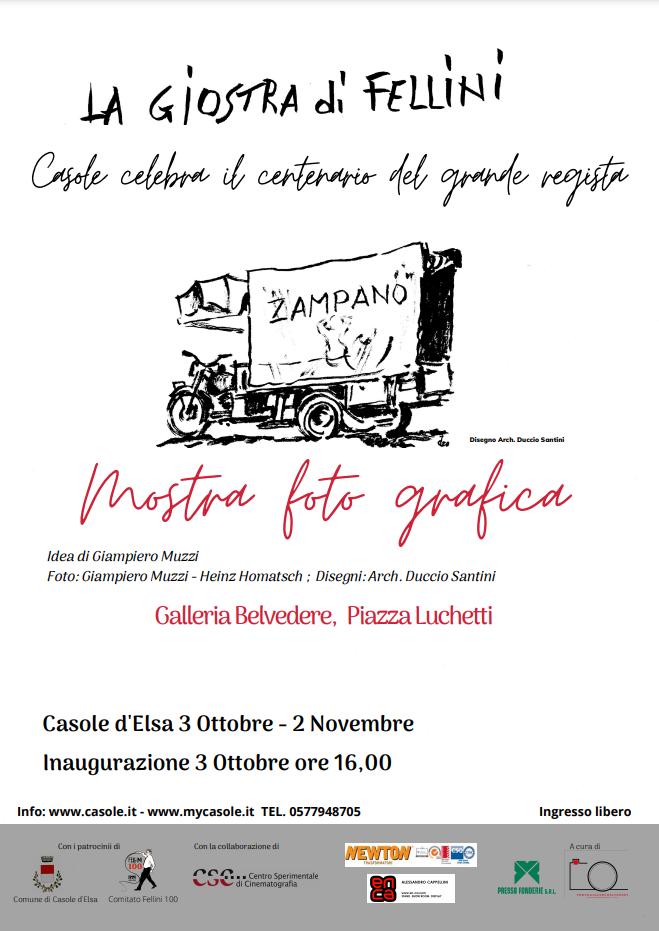 """Provincia di Siena, Casole: Al via la """"Giostra diFellini"""""""