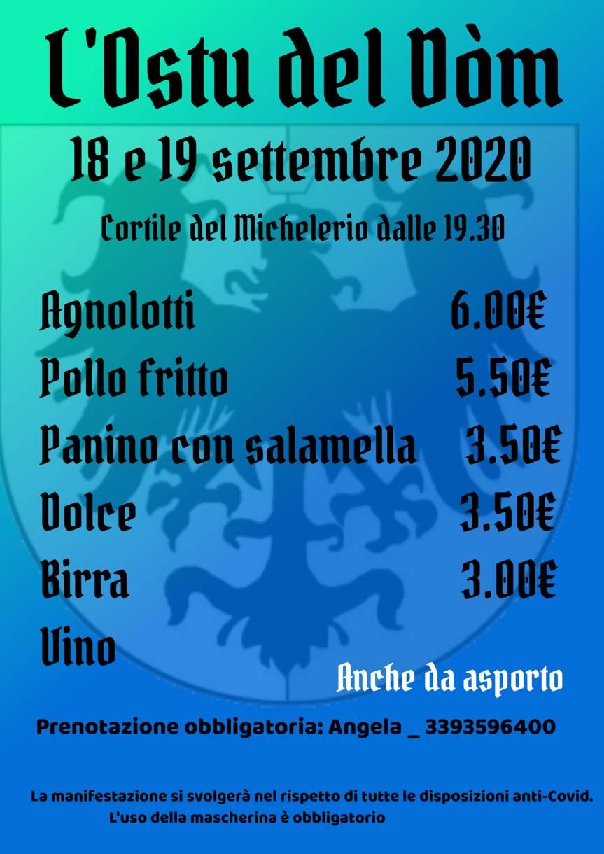 Palio di Asti, Comitato Palio Rione Cattedrale: 18-19/09 Ostu delDòm