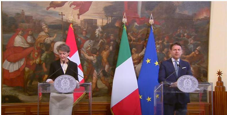 Italia: Conte incontra la Presidente della Confederazionesvizzera