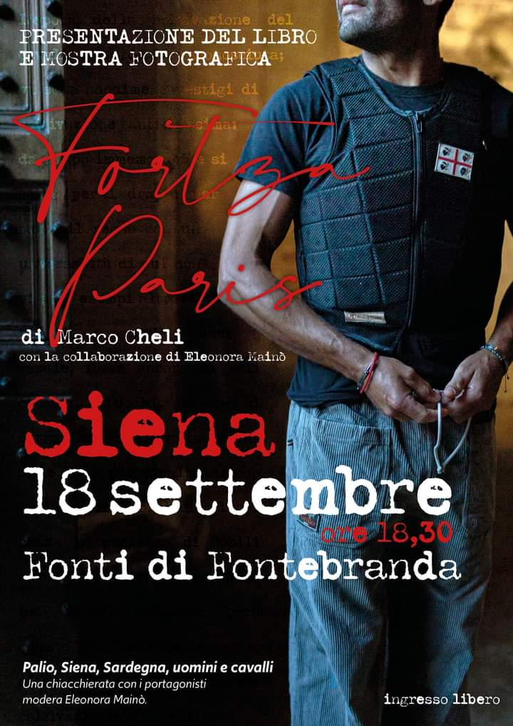 """Siena: 18/09 Presentazione libro """"FortzaParis"""""""