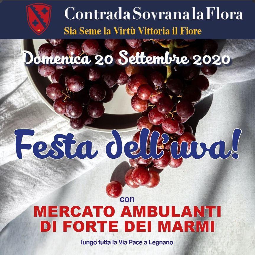 Palio di Legnano, Contrada Flora: 20/09 Festa dell'Uva con Mercato Ambulanti di Forte deiMarmi