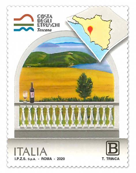 Toscana: Francobollo dedicato alla Costa degliEtruschi