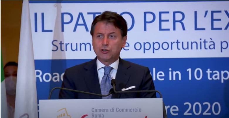 Italia: Conte alla tappa romana del Roadshow del Patto perl'Export