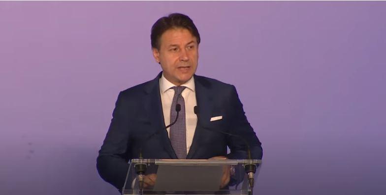 Italia: Conte alla presentazione del Libro Blu 2019 dell'Agenzia delle Dogane e deiMonopoli