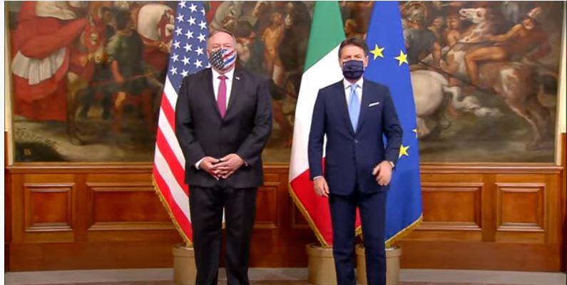 Italia: Conte incontra il Segretario di Stato USAPompeo
