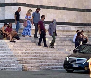 Siena: Mick Jagger in visita al Duomo diSiena