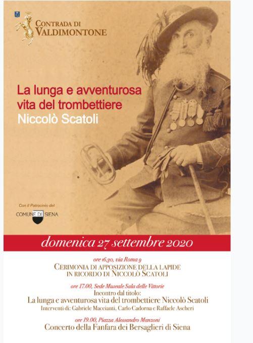 Siena, Contrada del Valdimontone: 27/09 Cerimonia di apposizione della lapide in ricordo di NiccolòScatoli