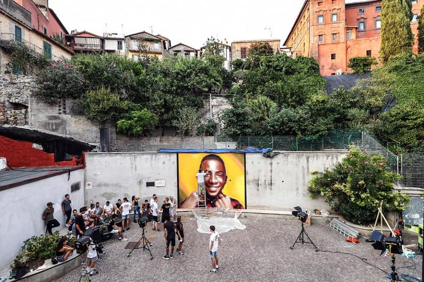 Italia: Murales per Willy, opera di unpontederese