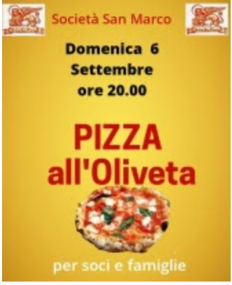 Siena, Società San Marco: 06/09 Pizza all'Oliveta